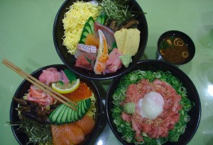 donburi sashimi rice bowl