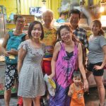The Chinese tourists whose guided tour of restaurants we joined in Hengchun