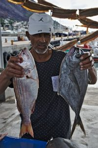 Fish peddler in Simon's Town, South Africa.